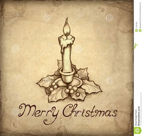 images of christmas cards to draw old christmas greeting card stock illustration image
