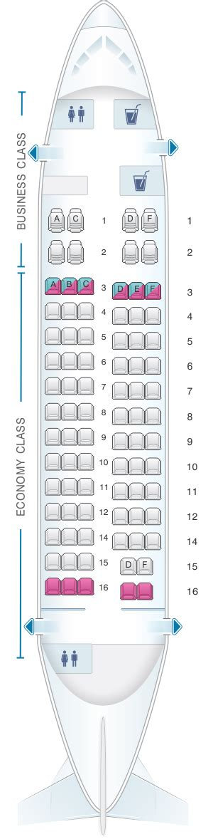 United Check In Baggage by Seat Map Bulgaria Air Bae 146 200 84pax Seatmaestro