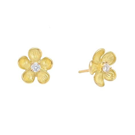 Flower Studs gold flower earstuds betteridge