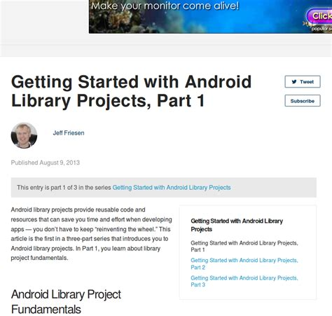 tutorial android library 12 android tutorials for beginners