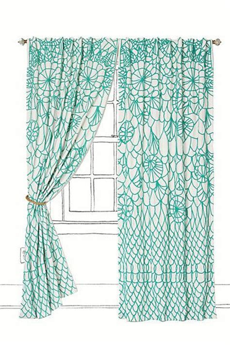 aqua and white curtains soraya curtain i anthropologie com
