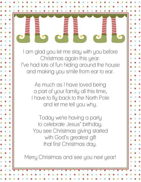 The Shelf Birthday Letter goodbye letter from the on a shelf fancy shanty