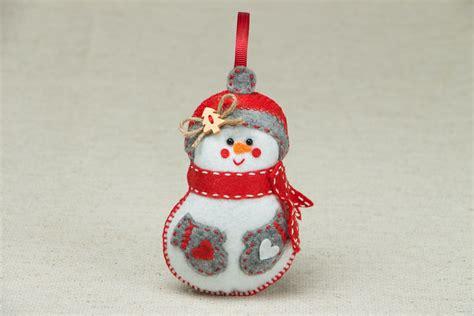 adornos de navidad de fieltro f 225 ciles de hacer hogarmania 20 muecos de nieve para hacer adornos de navidad 20