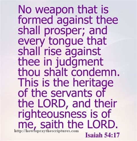 no weapon that is formed against thee shall isaiah 54 17