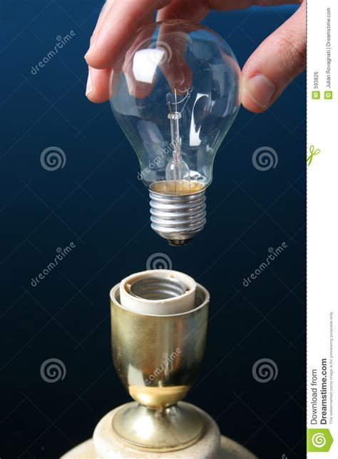 8 Tips On Putting Up Lights by Putting A Light Bulb In A L Royalty Free Stock