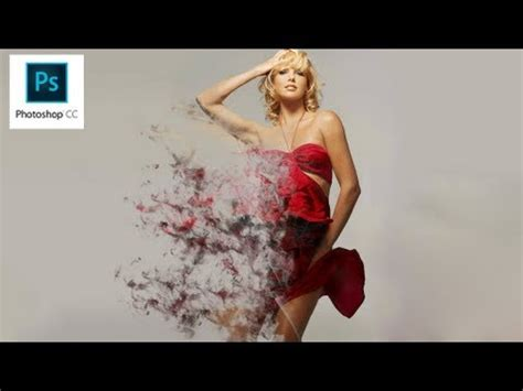 photoshop cc tutorials learn how to use adobe systems photoshop cc dispersion effect smoke cs7 youtube