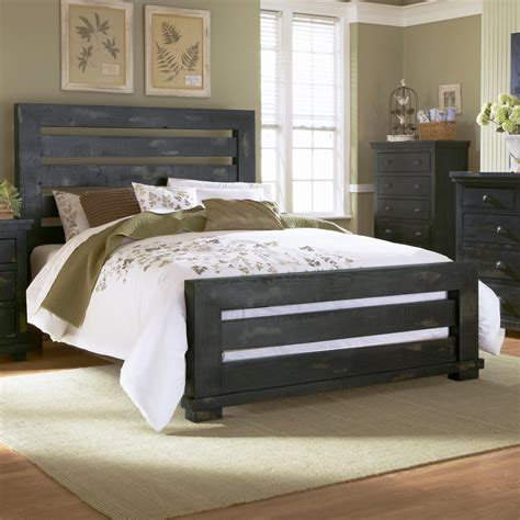 willow bedroom furniture progressive furniture willow queen slat bed with