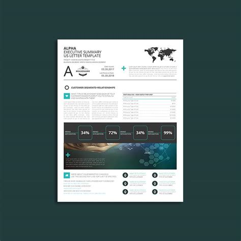 alpha executive summary letter template indesign