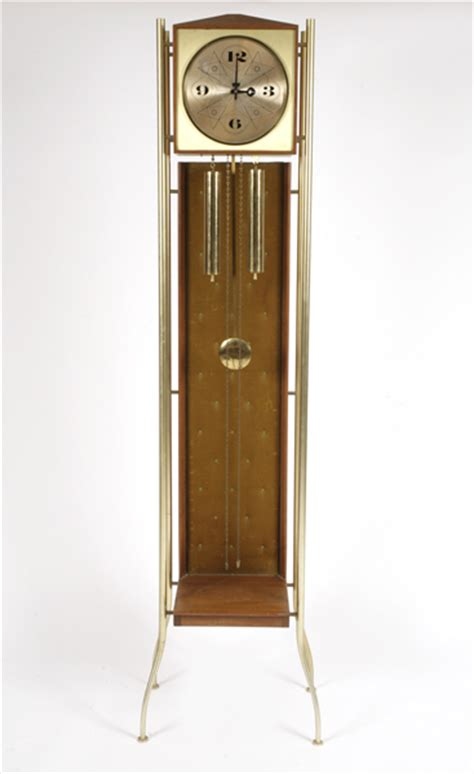 rare george nelson for howard miller grandfather clock red modern furniture