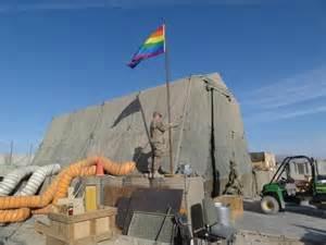 u s soldier flies rainbow flag in afghanistan