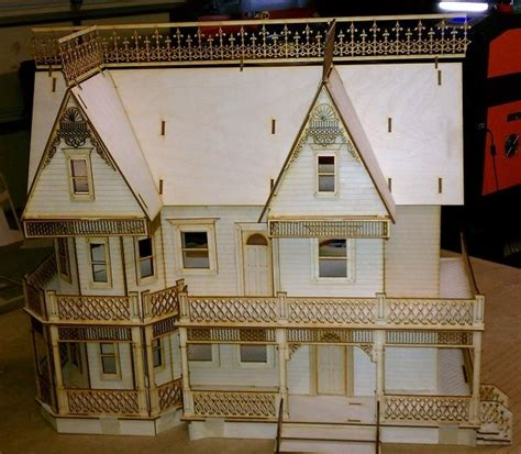 9 room dollhouse farmhouse 1 24 scale dollhouse kit 9 rooms ebay