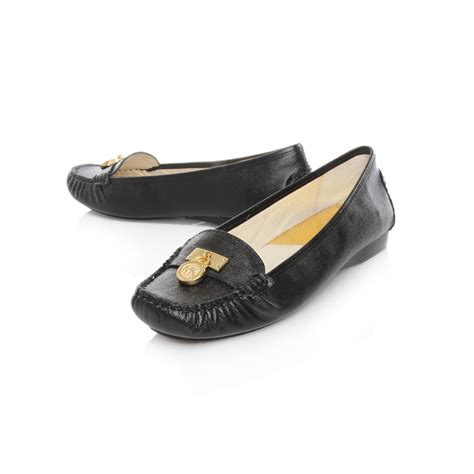 michael kors black loafers michael michael kors hamilton loafer in black lyst