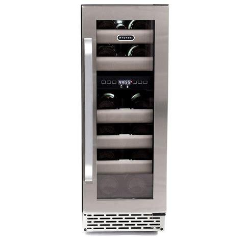 whynter elite 17 bottle seamless stainless steel door dual