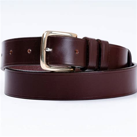 handmade exeter leather belt by tbm the belt