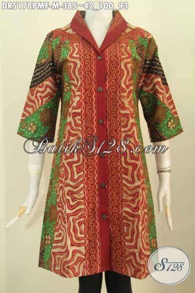 Dress Tunik Sinaran dress batik kombinasi model baju batik modern 2018