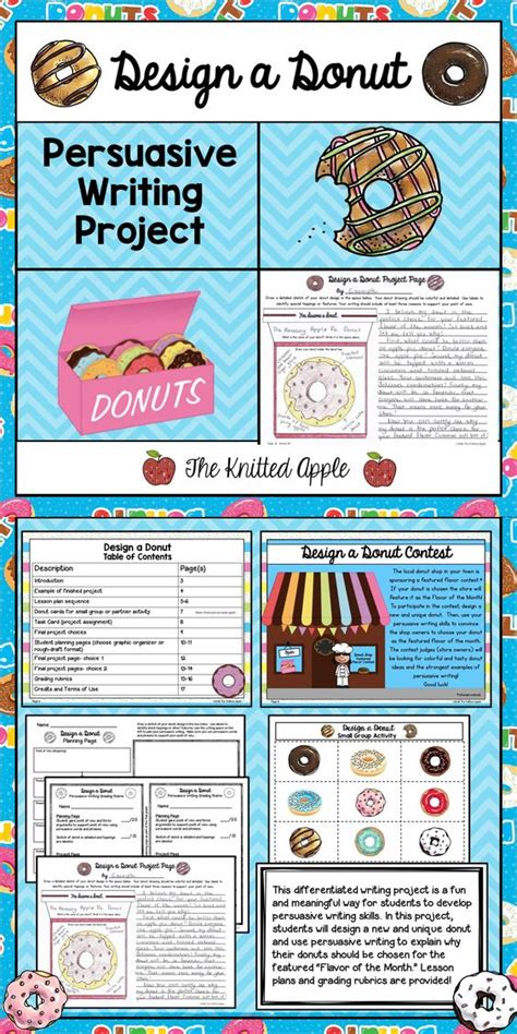 theme project exles persuasive writing donut theme writing skills student