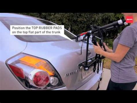 allen sports usa installing the 102db trunk rack how to