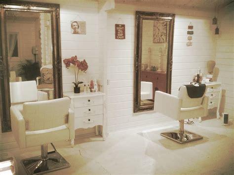 shabby chic hair salon log cabin salon ideas