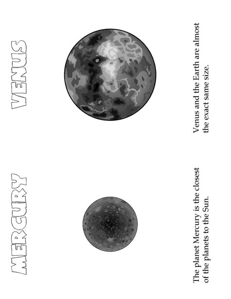 printable pictures venus planet planets mini book mercury venus woo jr kids activities