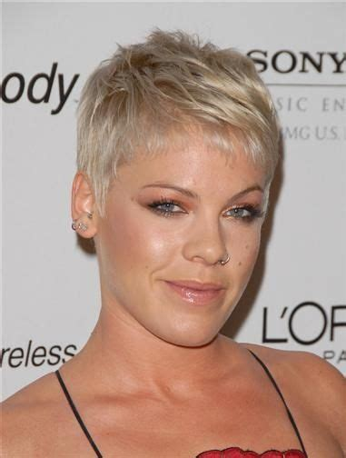 singer pink short hair pin by theresa l mcdade on faux hawk pinterest