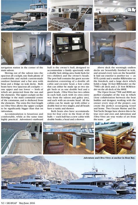 ski boat magazine two oceans the open ocean 750 and 800e ski boat magazine