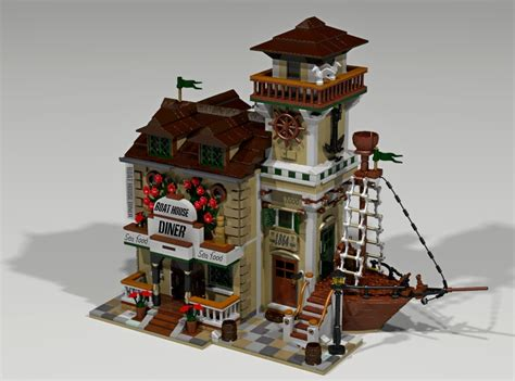 Lego Ideas Boat House Diner Achieves 10 000 Supporters The Brick Fan The Brick Fan