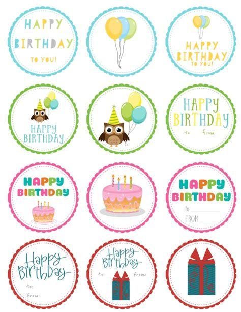 printable birthday gift tags templates free printable birthday gift tags