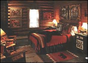 Wilderness into your rustic bedroom cabin scene with a country lodge