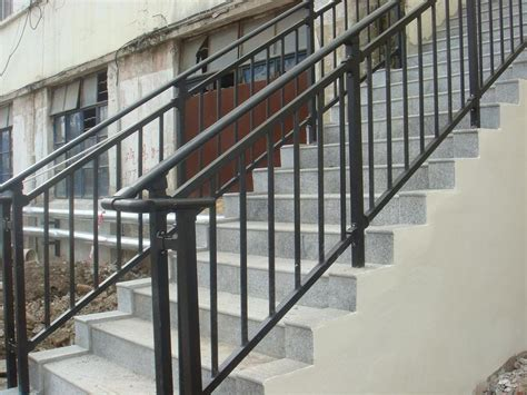 banister railing installation outdoor stair handrail uk and exterior stair handrail uk