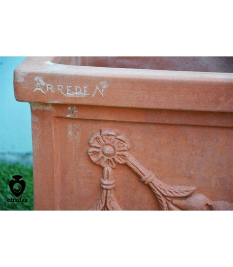 vaso terracotta rettangolare vaso fioriera da terra rettangolare cassetta festonata in