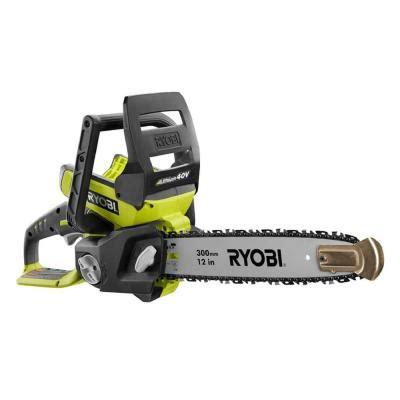 ryobi 12 in 40 volt lithium ion cordless chainsaw