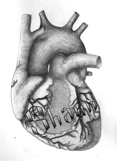real heart tattoos designs your name on my real design