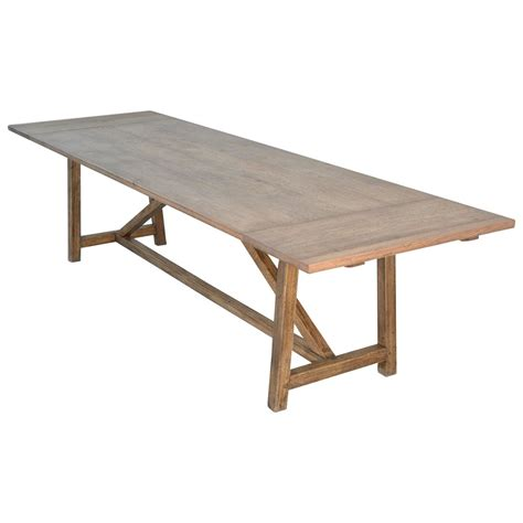 Handcrafted Dining Tables Petersen Antiques Custom Dining Table In Vintage Oak Extendable