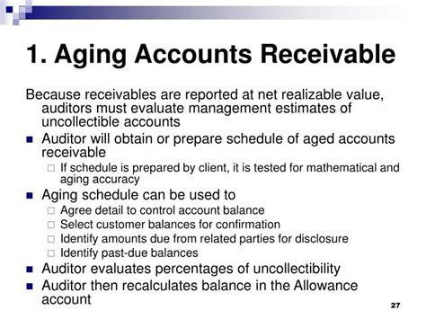 aging the accounts receivable ppt revenue cycle accounts the importance powerpoint