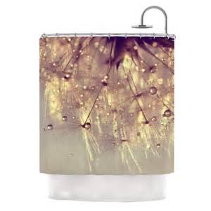 kess shower curtains kess inhouse sparkles of gold shower curtain reviews