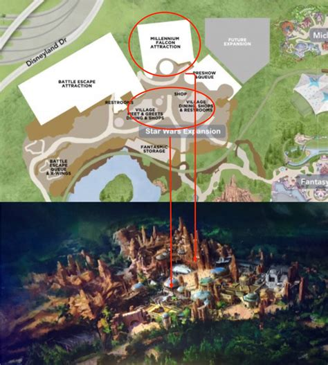 land layout maps star wars land rendering layout of star wars experience