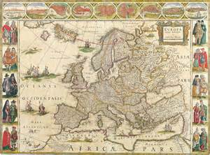 antique maps of the worldmap of europewillem blaeuc 1650
