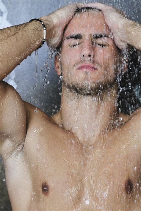 Guys Taking Showers by Handsome Taking A Shower Stock Image
