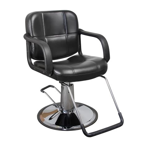 Black Salon Chairs by Black Quilted Hair Salon Styling Chair