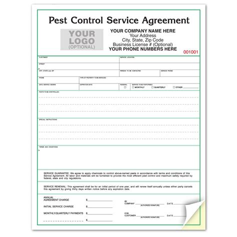 pest service agreement template pest service contract agreement