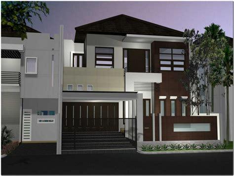 contoh desain rumah 2 lantai yang modern renovasi rumah net