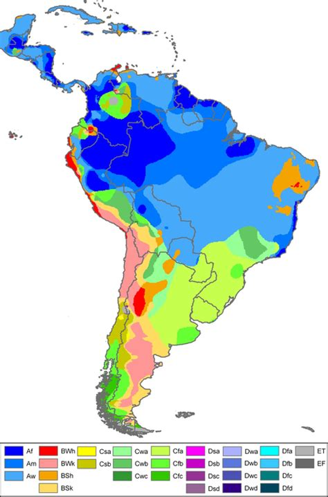 america map temperature south america climate map