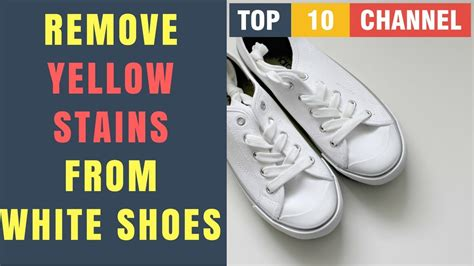 how to remove stains from white shoes how to get yellow stains out of white shoes how to