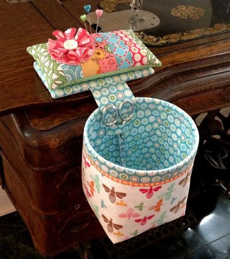 Handmade Pin Cushion - handmade sew in style thread catcher with detachable