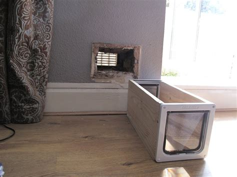 Interior Cat Door With Flap Widening A Small In A Thick Brick Wall Handyman In Hornsey Mybuilder