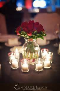 roses centerpieces centerpiece with candles s wedding ideas