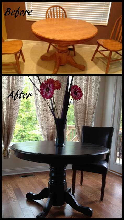 Diy Paint Dining Room Table Kitchen Table Redo Transforms The Whole Space How Cool Is That Pinterest Chairs Dining