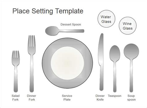 set template 20 place setting templates free word design ideas