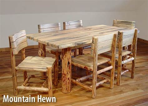 Rustic Log Dining Table And Chairs Log Dining Table And Chairs