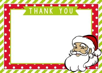 Thank You Letter Template To Santa Crafts Thank You Santa Card Mimi S Dollhouse